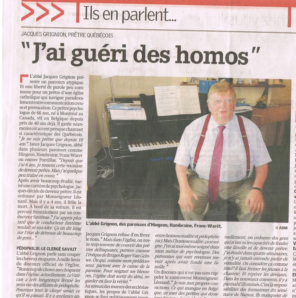 Jacques Grignon homosexualité pédophilie